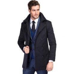 Płaszcz ALVARO PSGS000055. Brązowe płaszcze na zamek męskie Giacomo Conti, m, z elastanu, eleganckie. Za 899,00 zł.