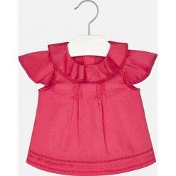 Mayoral - Top dziecięcy 80-98 cm. Różowe bluzki dziewczęce marki Mayoral, z bawełny, z okrągłym kołnierzem. Za 104,90 zł.