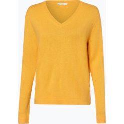 Apriori - Sweter damski z mieszanki jedwabiu i kaszmiru, żółty. Niebieskie swetry klasyczne damskie marki Apriori, l. Za 449,95 zł.