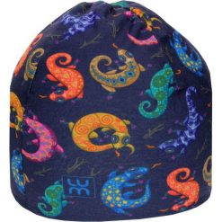 Dwuwarstwowa czapka Micro Double jr gekon. Szare czapeczki niemowlęce marki LUM. Za 53,54 zł.