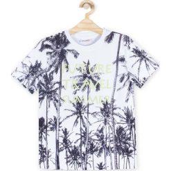 Coccodrillo - T-shirt dziecięcy 122-158 cm. Białe t-shirty chłopięce marki COCCODRILLO, m, z bawełny, z okrągłym kołnierzem. Za 39,90 zł.