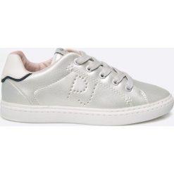 Pepe Jeans - Tenisówki. Szare buty sportowe dziewczęce Pepe Jeans, z gumy, na sznurówki. W wyprzedaży za 99,90 zł.