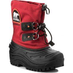Śniegowce SOREL - Childrens Super Trooper Xt LC5233 Rocket/Black 675. Czarne buty zimowe chłopięce Sorel, z gumy. Za 229,00 zł.