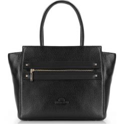 Torebka damska 87-4E-207-1. Czarne shopper bag damskie Wittchen, w geometryczne wzory, z tłoczeniem. Za 545,00 zł.