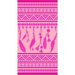 """Kąpielówki męskie: Ręcznik plażowy """"Indigo"""" w kolorze różowym – 160 x 86 cm"""