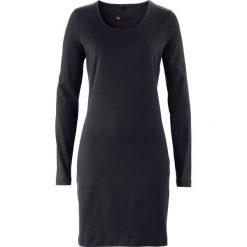 Długie sukienki: Sukienka ze stretchem, długi rękaw bonprix czarny