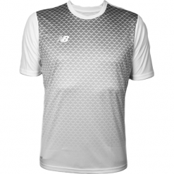 Koszulka treningowa - EMT6102WT. Czerwone koszulki do piłki nożnej męskie marki New Balance, na jesień, m, z materiału. Za 99,99 zł.