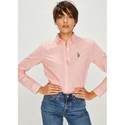 U.S. Polo - Koszula. Szare koszule wiązane damskie U.S. Polo, s, w paski, z bawełny, klasyczne, z klasycznym kołnierzykiem, z długim rękawem. W wyprzedaży za 299,90 zł.