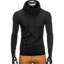 Bluzy męskie: BLUZA MĘSKA ZE STÓJKĄ B781 – CZARNA