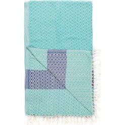 Chusta hammam w kolorze turkusowo-niebieskim - 180 x 95 cm. Czarne chusty damskie marki Hamamtowels, z bawełny. W wyprzedaży za 43,95 zł.