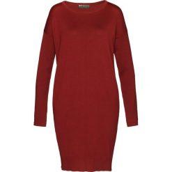 Sukienki: Sukienka dzianinowa bonprix czerwony kasztanowy