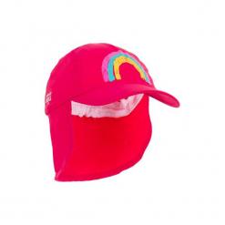 Czapka z daszkiem UV surfing dla malucha. Czerwone czapki z daszkiem damskie marki OLAIAN, z materiału. W wyprzedaży za 12,99 zł.