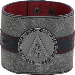 Assassin's Creed Odyssey - Metal Badge Wristband Bransoletka czarny. Czarne bransoletki damskie na nogę metalowe. Za 99,90 zł.