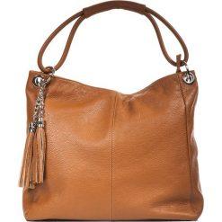 Torebki klasyczne damskie: Skórzana torebka w kolorze brązowym – 38 x 36 x 14 cm
