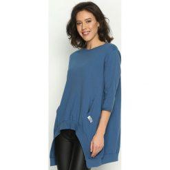 Bluzy damskie: Niebieska Bluza Loose