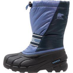 Sorel CUB Śniegowce blues. Niebieskie buty zimowe chłopięce Sorel, z materiału. Za 219,00 zł.