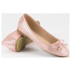 Baleriny damskie: Super Mode ażurowe balerinki różowe