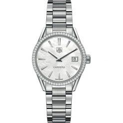 ZEGAREK TAG HEUER CARRERA WAR1315.BA0778. Białe zegarki męskie TAG HEUER, ze stali. Za 14320,00 zł.