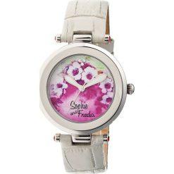 """Zegarki damskie: Zegarek kwarcowy """"Versailles"""" w kolorze szaro-srebrnym ze wzorem"""