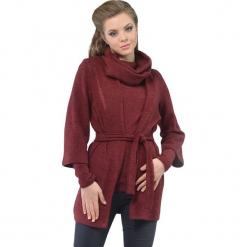 Zestaw w kolorze bordowym - bluzka, kardigan. Czerwone kardigany damskie marki Lila Kass, xxs. W wyprzedaży za 299,95 zł.