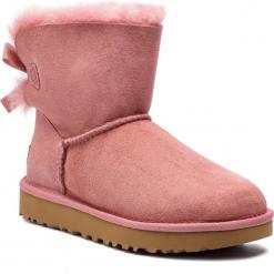 Buty UGG - W Mini Bailey Bow II 1016501  W/Pdw. Szare buty zimowe damskie marki Ugg, z materiału, z okrągłym noskiem. Za 859,00 zł.