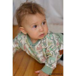 Bluza dziecięca miętowe jelonki. Czerwone bluzy dziewczęce rozpinane marki Pakamera, z dzianiny. Za 85,00 zł.