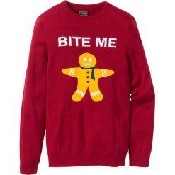 Swetry męskie: Sweter Slim Fit bonprix ciemnoczerwony
