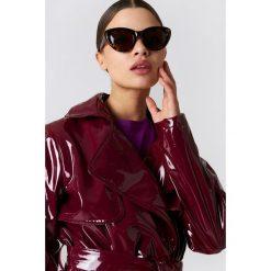 Okulary przeciwsłoneczne damskie: NA-KD Accessories Okulary przeciwsłoneczne kocie oczy – Black,Brown,Multicolor