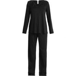 Hanro MOMENTS ARM SET Piżama black. Czarne piżamy damskie Hanro, m, z bawełny. Za 629,00 zł.