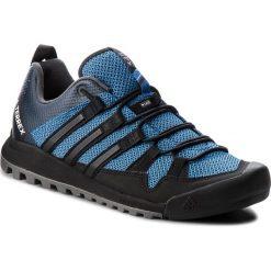 Buty adidas - Terrex Solo AC7885 Blubea/Cblack/Legink. Czarne buty trekkingowe męskie marki Adidas, do piłki nożnej. W wyprzedaży za 379,00 zł.
