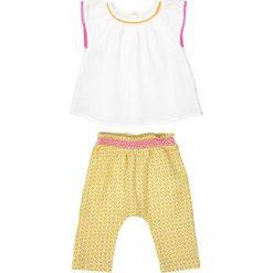 Dziecięcy komplecik: bluzka i szarawary 0 mois - 3 latka. Białe bluzki dziewczęce marki La Redoute Collections, z bawełny. Za 88,16 zł.