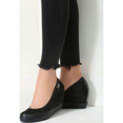 Buty ślubne damskie: Czarne Koturny Casual Step