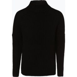 Drykorn - Męska bluza nierozpinana z dodatkiem alpaki – Bato, czarny. Niebieskie bluzy męskie rozpinane marki DRYKORN, m, z dekoltem karo. Za 589,95 zł.