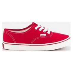 Trampki damskie slip on: Czerwone tenisówki ANDY Z czerwone