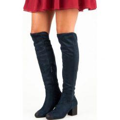 GRANATOWE MUSZKIETERKI NA OBCASIE VINCEZA. Niebieskie buty zimowe damskie marki Vinceza, na obcasie. Za 179,00 zł.