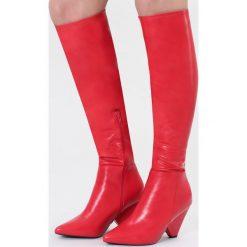 Czerwone Kozaki Body Talk. Czarne buty zimowe damskie marki Kazar, ze skóry, na wysokim obcasie. Za 169,99 zł.