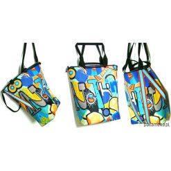 1179 art MIMA bag UNI & Marcin Painta print. Brązowe shopper bag damskie marki N/A, w kolorowe wzory. Za 399,00 zł.