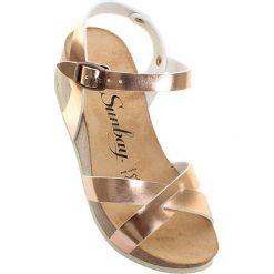 """Rzymianki damskie: Sandały """"Pivoine"""" w kolorze różowozłotym"""