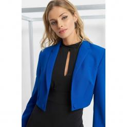 Bolerko z guzikami. Niebieskie bolerka i narzutki damskie marki Orsay, z elastanu. Za 149,99 zł.