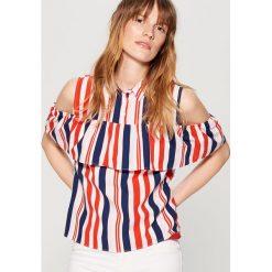 Koszule wiązane damskie: Bawełniana koszula cold arms w paski – Wielobarwn