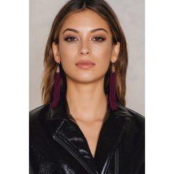 Kolczyki damskie: NA-KD Accessories Wiszące kolczyki – Purple,Multicolor