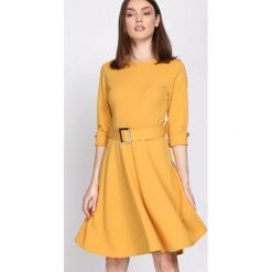 Żółta Sukienka Choir. Żółte sukienki marki Born2be, s, z koszulowym kołnierzykiem, koszulowe. Za 79,99 zł.