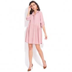 Fille Du Couturier Sukienka Damska Oriane 42 Różowy. Różowe sukienki marki numoco, l, z dekoltem w łódkę, oversize. Za 209,00 zł.