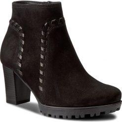Botki GABOR - 72.864.47 Schwarz (Mikro). Czarne buty zimowe damskie marki Gabor, z materiału, na obcasie. W wyprzedaży za 309,00 zł.