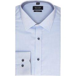 Koszula bexley 2322 długi rękaw slim fit niebieski. Niebieskie koszule męskie slim Recman, m, z długim rękawem. Za 49,99 zł.