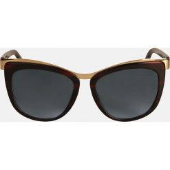Brązowe okulary przeciwsłoneczne. Brązowe okulary przeciwsłoneczne damskie aviatory Kazar, owalne. Za 399,00 zł.
