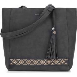 Torebka damska 87-4Y-700-1. Czarne shopper bag damskie Wittchen, z aplikacjami, na ramię, zdobione. Za 129,00 zł.