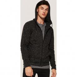 Melanżowa bluza z kapturem - Szary. Czarne bluzy męskie rozpinane marki KIPSTA, z poliesteru, do piłki nożnej. Za 99,99 zł.
