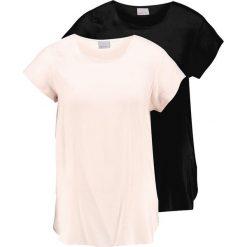 Bluzki asymetryczne: Vero Moda VMBOCA 2PACK Bluzka cream tan/black