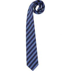 Krawaty męskie: Krawat w kolorze granatowo-niebieskim – 150 x 7,5 cm